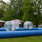Bubble Soccer in Aktion