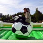 Fußball Rodeo in Aktion