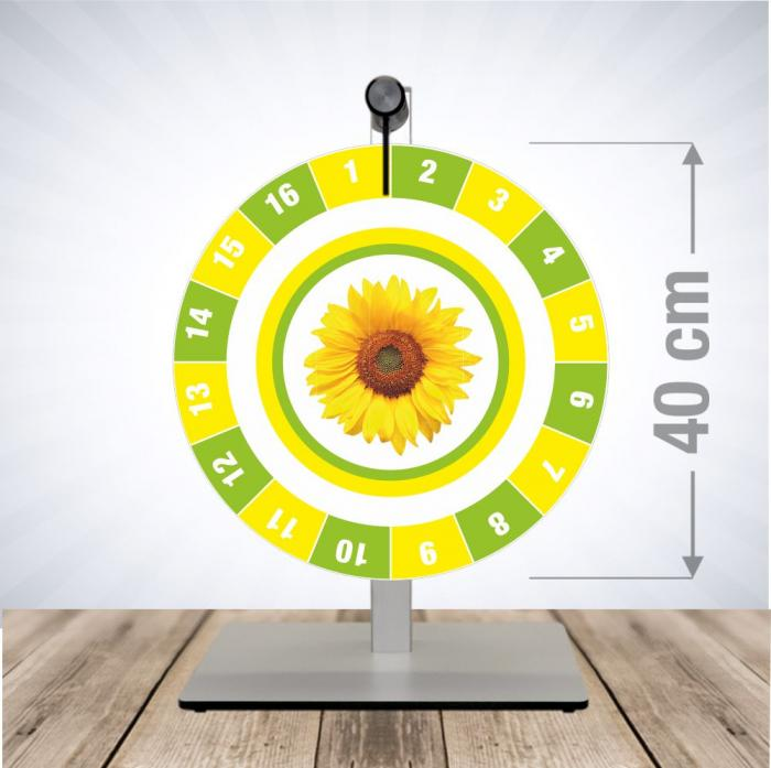 Glücksrad Tischmodell Pocket - Sunflower